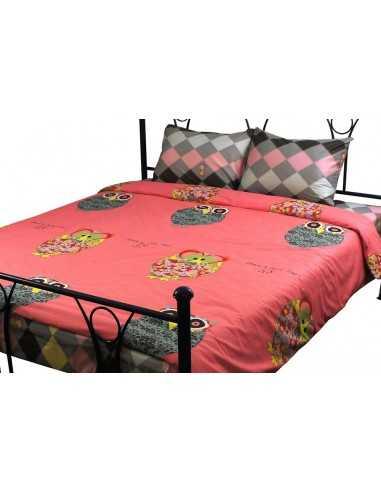 Двуспальное постельное белье Руно Owl, 50х70 (2шт) см