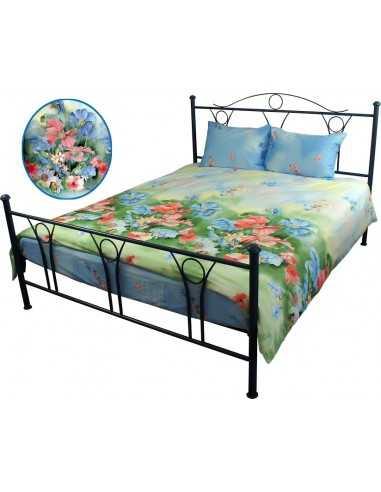 Полуторное постельное белье Руно Summer Flowers, 50х70 (2шт) см