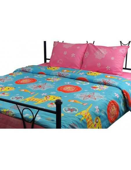 Двуспальное постельное белье Руно Yellow Cat, 50х70 (2шт) см