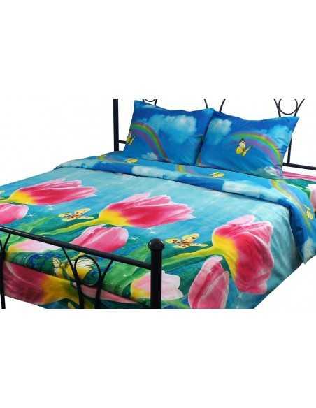 Семейное постельное белье Руно Тюльпаны, 70х70 (2шт) см