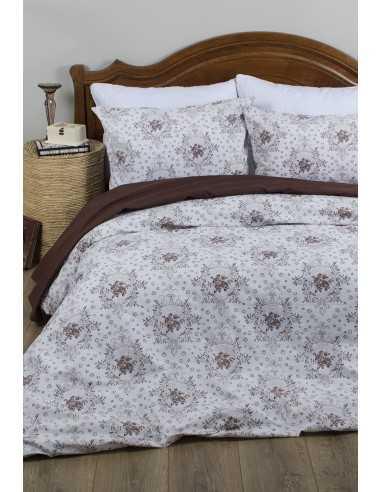 Семейное постельное белье Lotus Premium Anna Бежевый