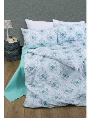 Семейное постельное белье Lotus Premium Anna Бирюзовый