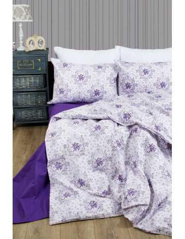 Семейное постельное белье Lotus Premium Anna Лиловый