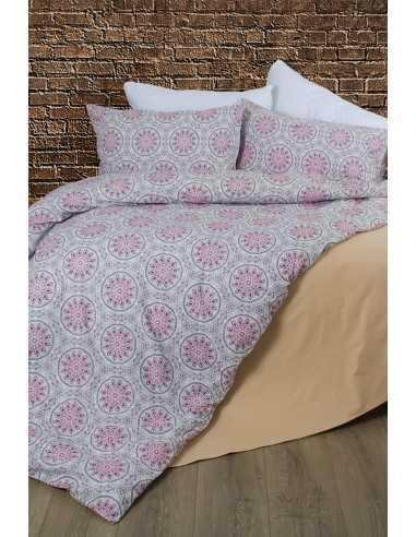 Семейное постельное белье Lotus Premium Esther Красный