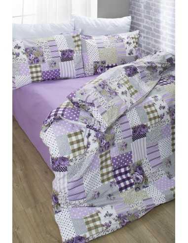 Семейное постельное белье Lotus Premium Patchwork Лиловый