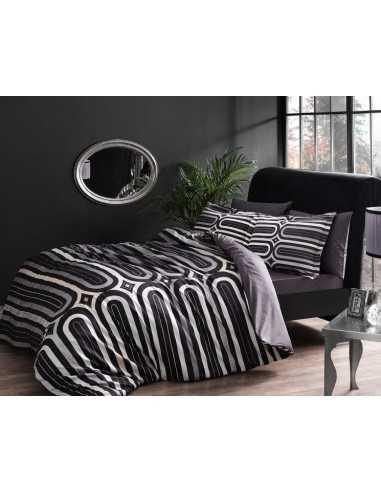 Постельное белье евро TAC Cloud V01 Серый