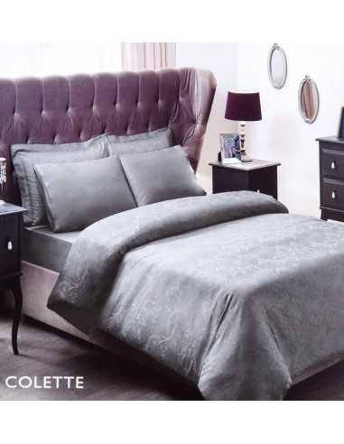 Постельное белье евро TAC Colette Серый