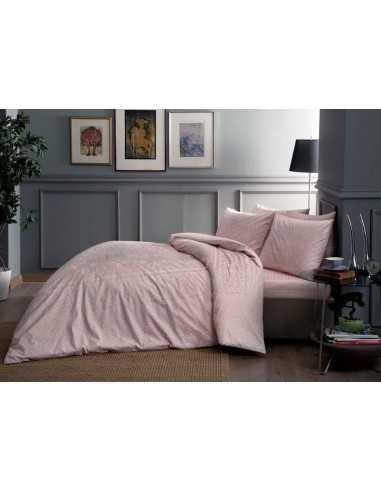 Полуторное постельное белье TAC Fabian V52 Pembe