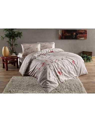 Полуторное постельное белье Tac Fiona Bej v01