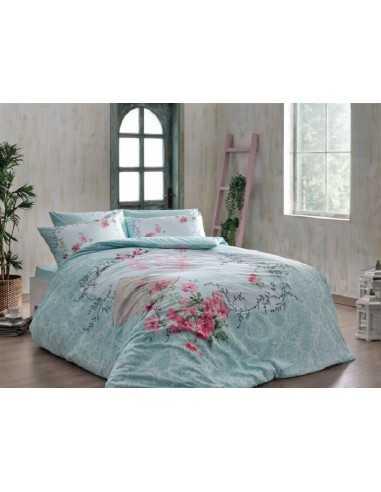 Полуторное постельное белье TAC Lilyana V01 Lacivert
