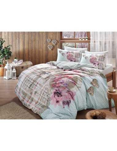 Полуторное постельное белье TAC Livia V01 Синий