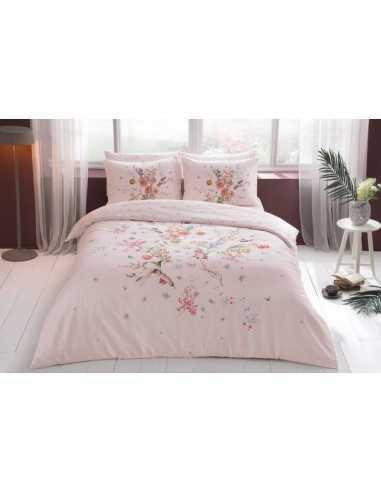 Полуторное постельное белье Tac Martha Pembe v01