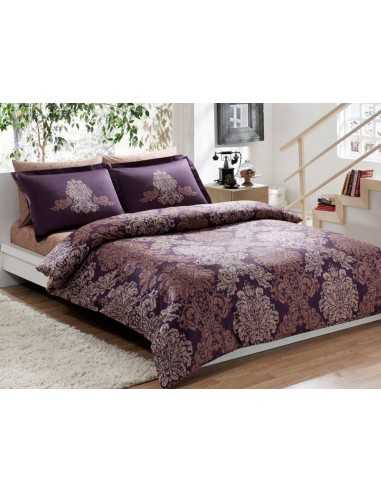 Постельное белье евро TAC Pavona Фиолетовое