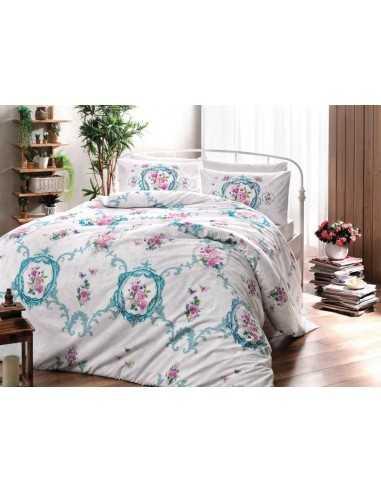 Полуторное постельное белье Tac Selina Turkuaz V02