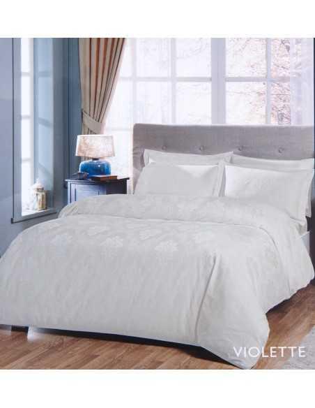 Постельное белье евро Tac Violette Молочный