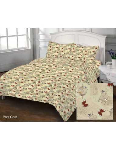Двуспальное постельное белье Zastelli 105 Post Card