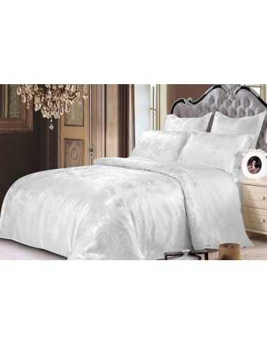 Полуторное постельное белье Zastelli JQ10 white