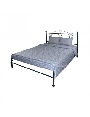 Двуспальное постельное белье Руно Серый Вензель, 70х70 см