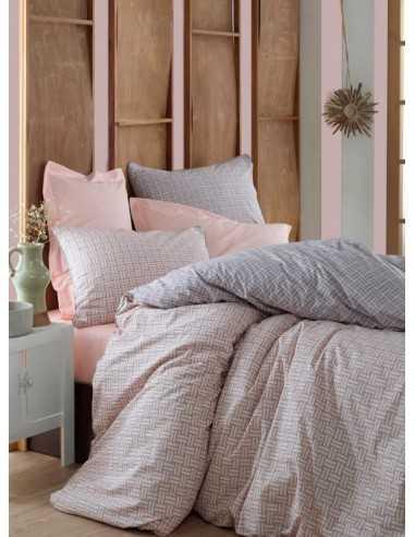 Двуспальное постельное белье Cotton Box Minimal Must Somon