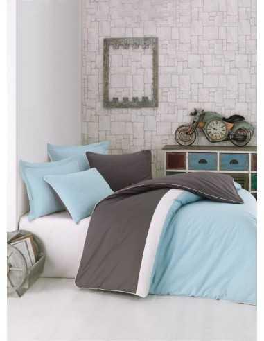Двуспальное постельное белье Cotton Box Plain Sport Mint