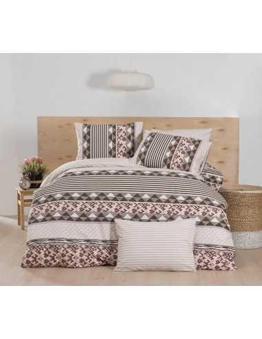 Постельное белье евро Cotton Box Majoli Bahar teksil Prizma v3