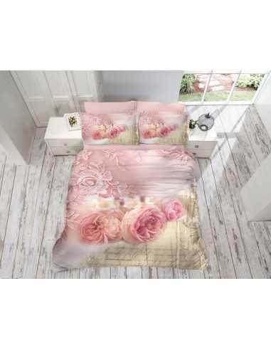 Постельное белье евро Cotton Box Gokay 3D Roses
