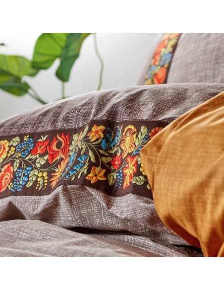 Постельное белье евро Cotton Box Folk Art Vizon