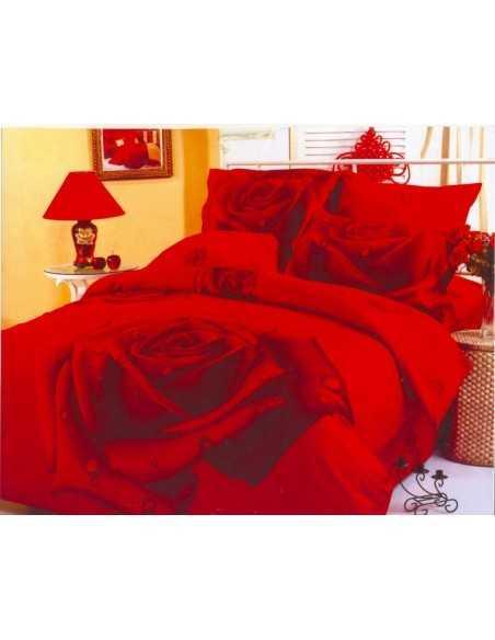 Полуторное постельное белье Le Vele Gullu Red