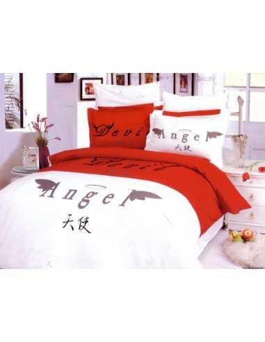 Полуторное постельное белье Le Vele Devil&Angel