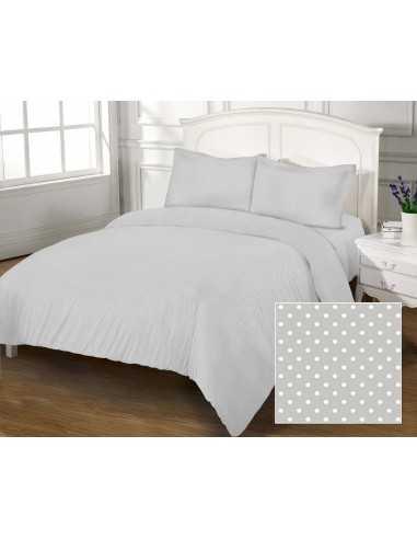 Полуторное постельное белье Zastelli 41 Белый горох на сером