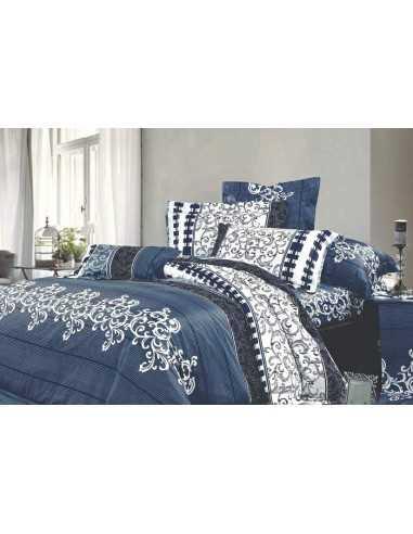 Семейное постельное белье Вилюта 8630 Синее