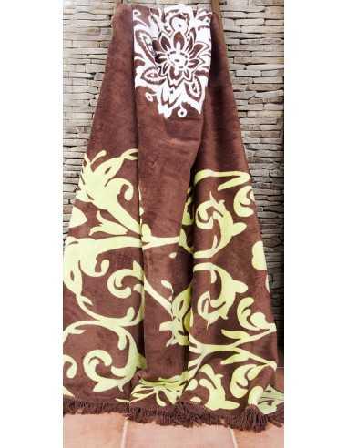 Плед Lotus Saray коричневий, 200х220см