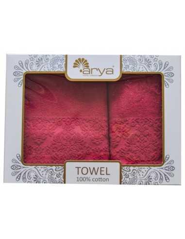 Набор полотенец Arya Sabino 50х90-70х140 см, розовый