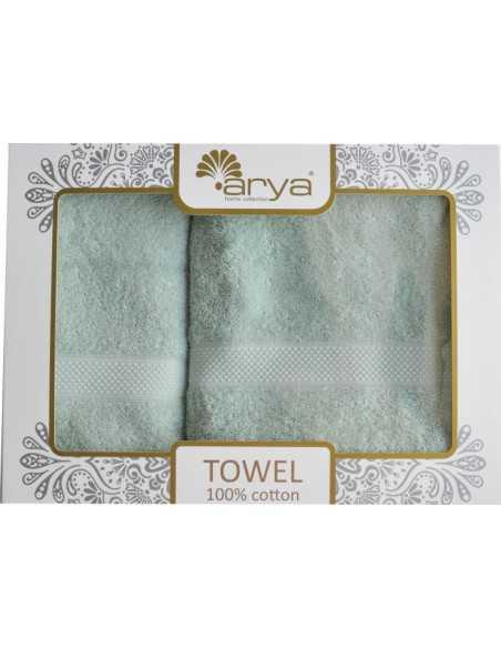 Набор полотенец Arya Sabino 50х90-70х140 см, серый