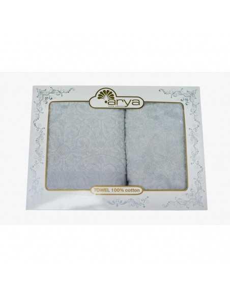Набор полотенец Arya Aiko 50х90-70х140 см, серый