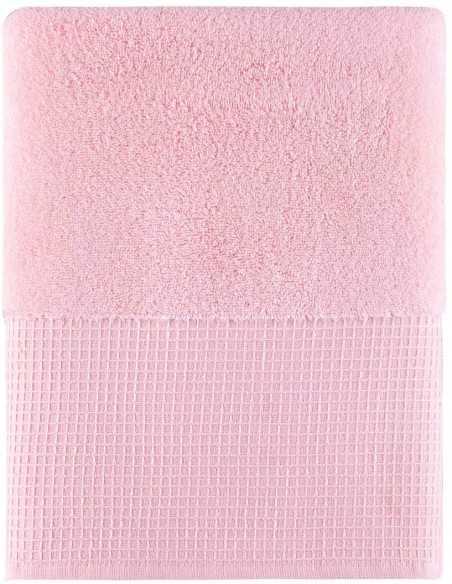 Набір рушників Arya Waffle Terry 50х90-70х140 см, рожевий