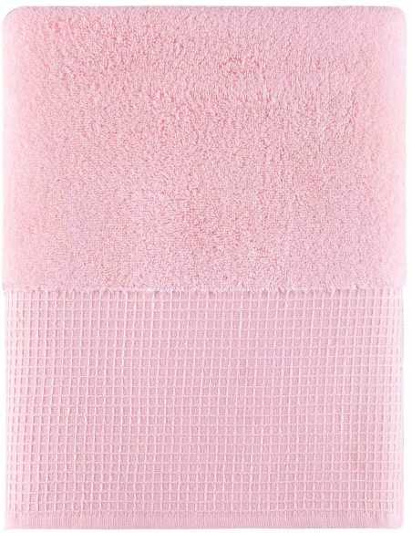 Набор полотенец Arya Waffle Terry 50х90-70х140 см, розовый