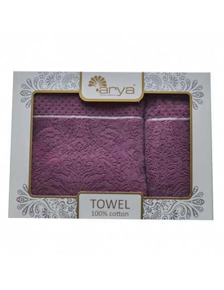 Набір рушників Arya Molu 50х90-70х140 см, пурпурний