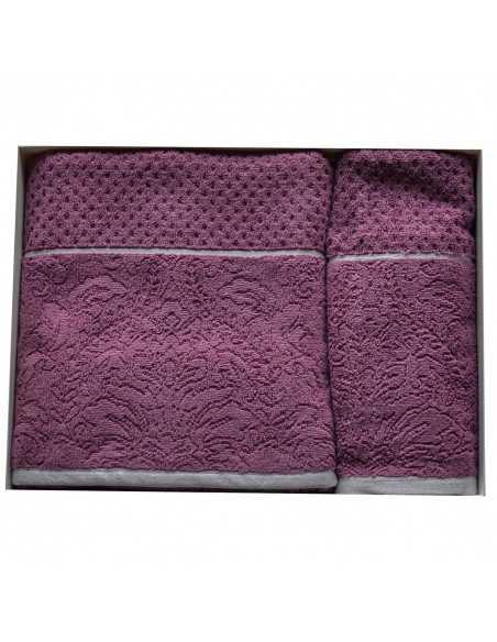 Набор полотенец Arya Molu 50х90-70х140 см, пурпурный