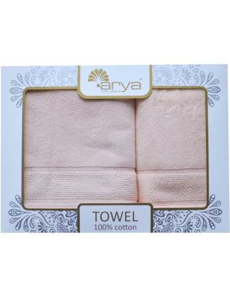 Набор полотенец Arya Poise 50х90-70х140 см, песочный