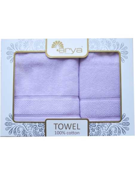 Набор полотенец Arya Poise 50х90-70х140 см, лиловый