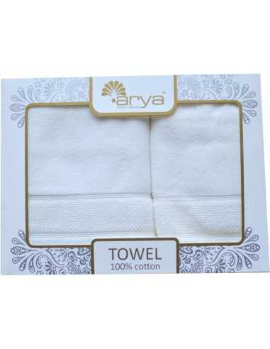 Набор полотенец Arya Poise 50х90-70х140 см, персиковый