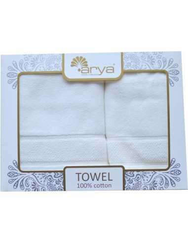 Набор полотенец Arya Poise 50х90-70х140 см, белый