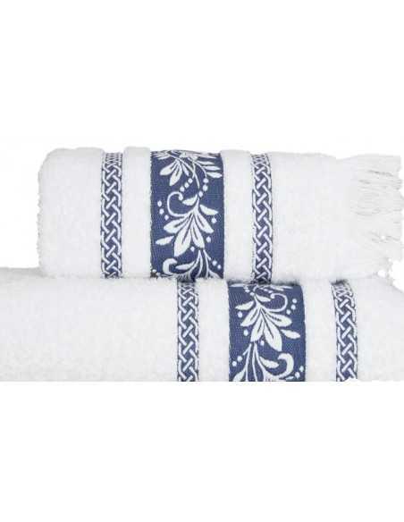 Набор полотенец Arya Auden 50х90 см, 70х140 см, синий