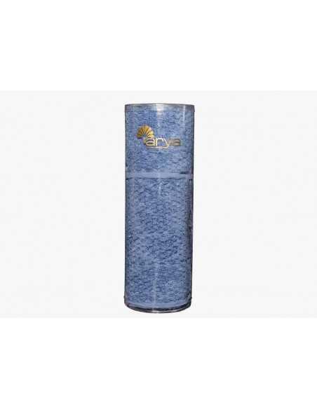 Набор полотенец в тубе Arya Arno 30х50-50х90 см, темно-синий