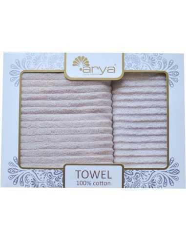 Набір рушників Arya Melange 50х90-70х140 см, білий