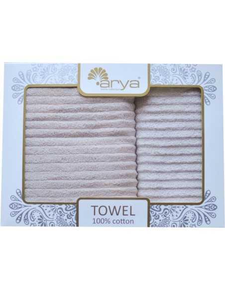 Набор полотенец Arya Melange 50х90-70х140 см, белый