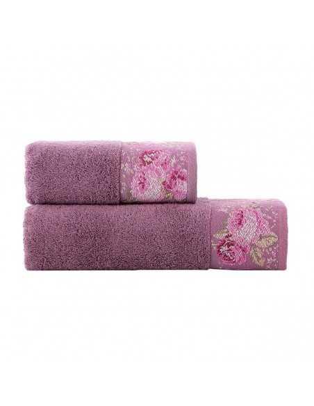 Набор полотенец Arya Desima 50х90-70х140 см, пурпурный