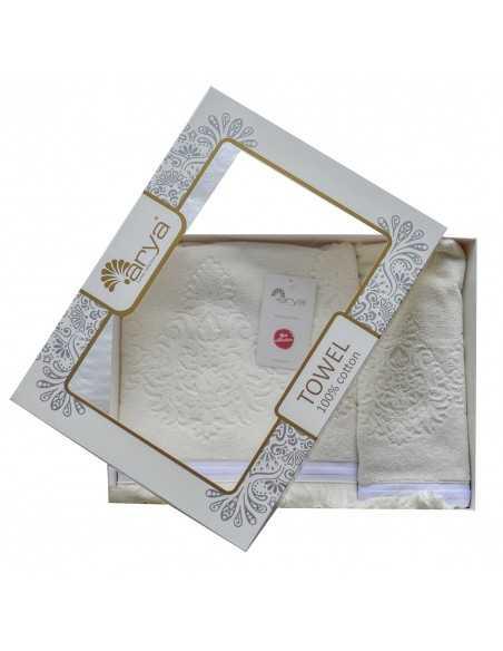 Набір рушників Arya Demor 50х90-70х140 см, экрю