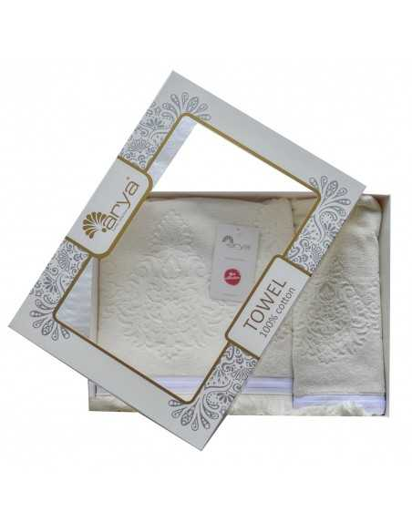 Набор полотенец Arya Demor 50х90-70х140 см, экрю